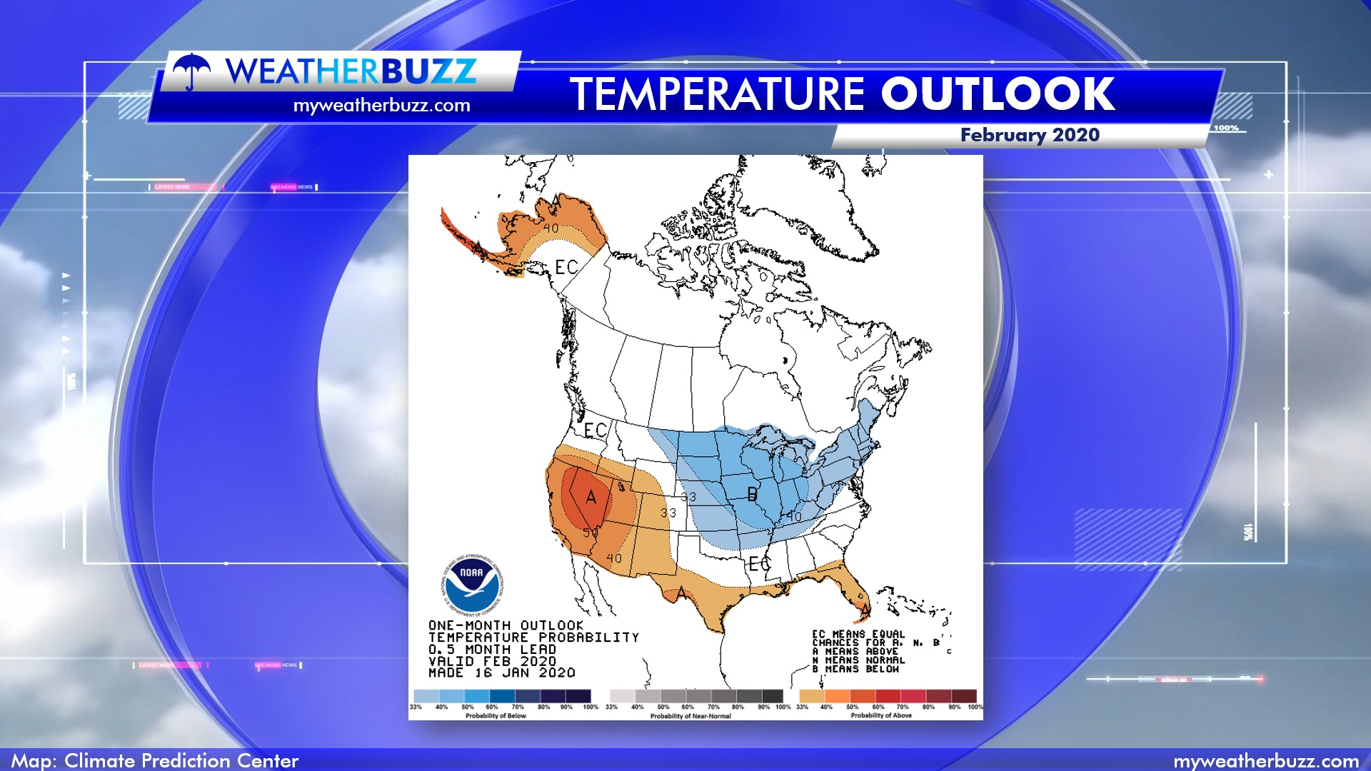 February 2020 Temperature Outlook