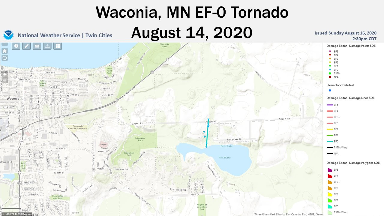 Waconia Tornado Path